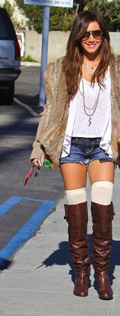 ashley tisdale socks and boots
