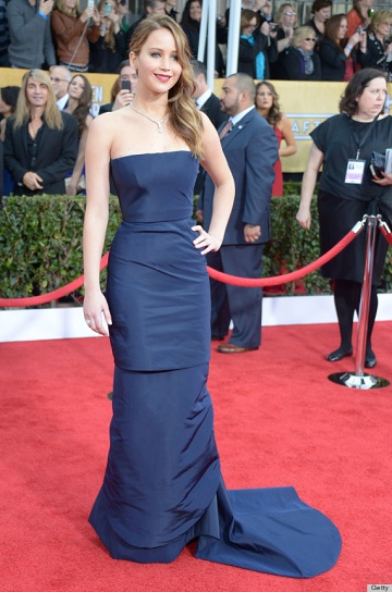 jennifer lawrence sag awards dress