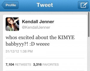 kendell jenner kim pregnant tweet