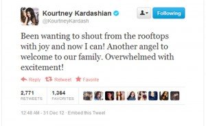 kourtney kardashian tweet