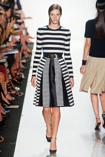 michael kors black and white dress