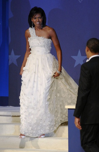 michelle obama jason wu first inaugural ball dress