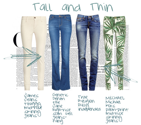 jeans for tall and thin figure