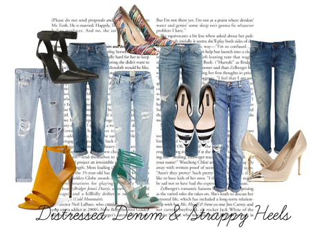 Strappy Heels and Distressed Denim