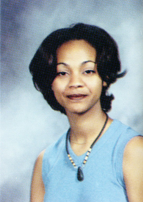 zoe saldana yearbook picture