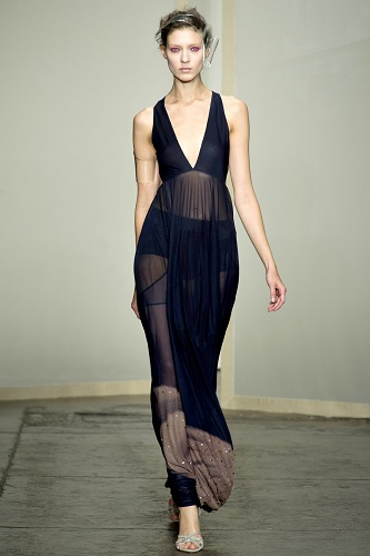 Donna Karan dress on the runway