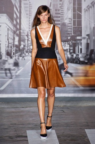 dkny dress on the runway