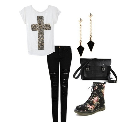 chic rocker look
