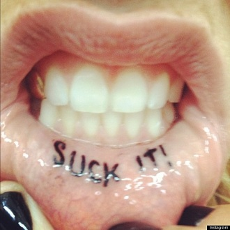 kesha mouth tattoo