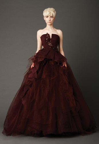 vera wang colored wedding dress