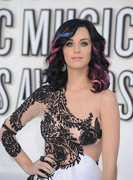 katy perry colorful hair