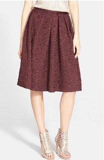 ASTR Textured Pleat Skirt