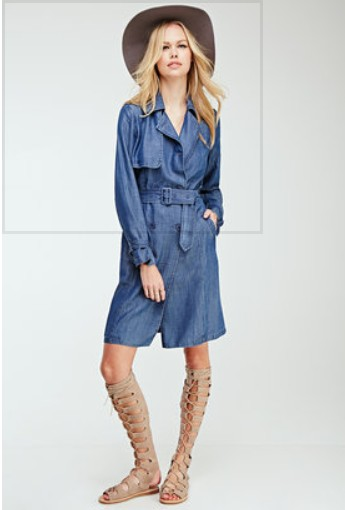 Denim Trench Coat