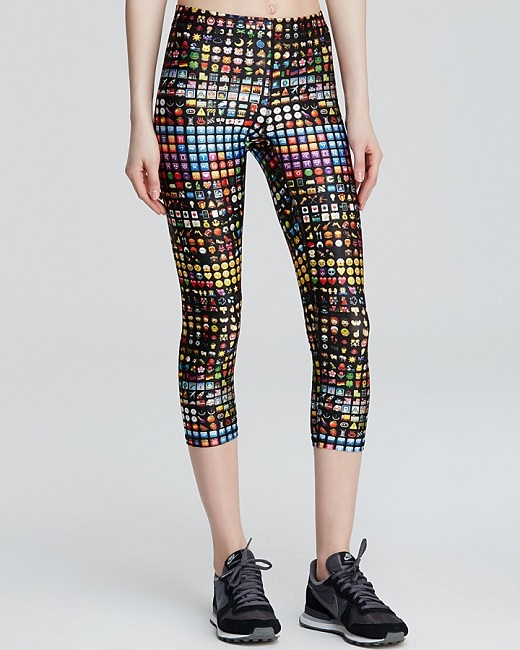 emoji stretch pants
