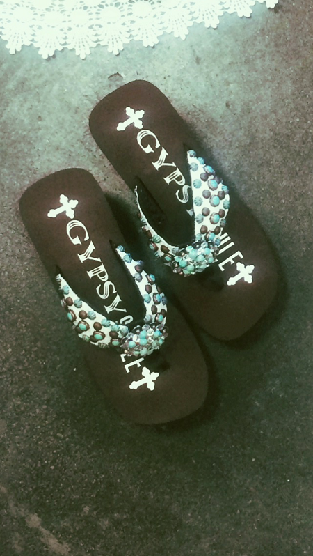 sandals with swarovski crystals