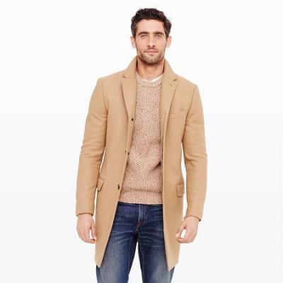 Mens Wool Topcoat