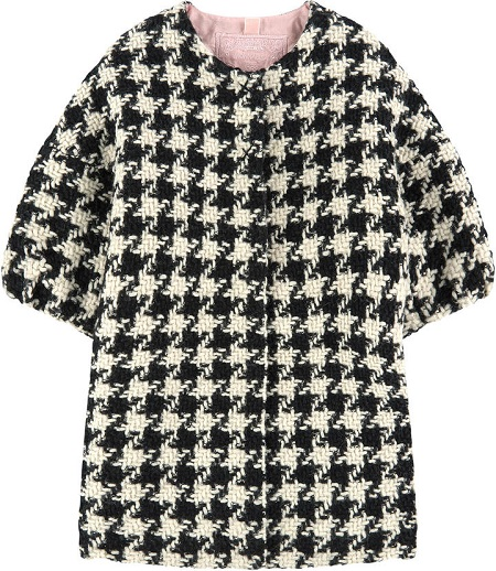 Youth  HOUNDSTOOTH PRINTED COAT