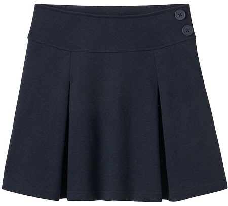 Girls Pleated Uniform Skort